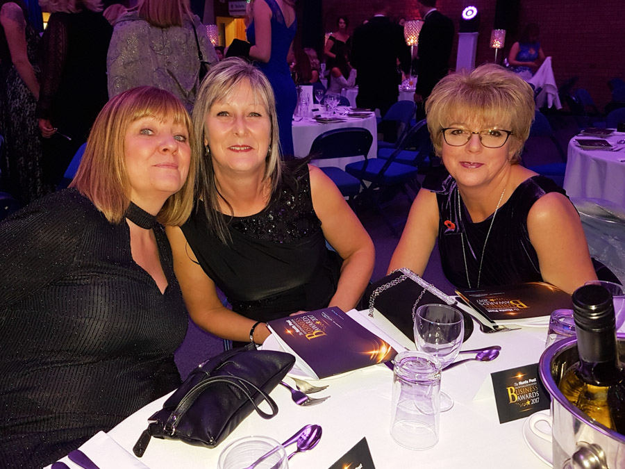 From Left to right - Le Mark's Tracey, Lorraine & Heather.