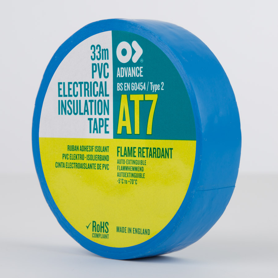 Advance AT7 PVC Electrical Insulation Tape Blue