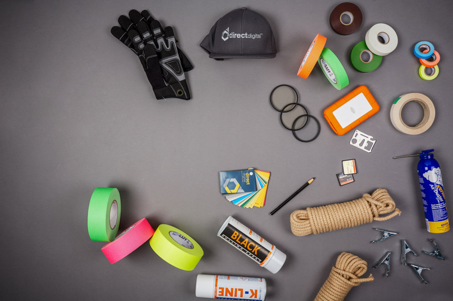 Direct Digital taking an awesome shot showing some of our tape & accessories