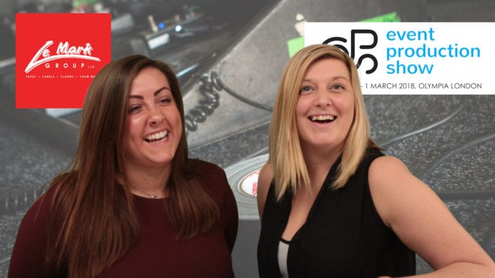 Hannah & Leanne preview Le Mark at the Event Production Show