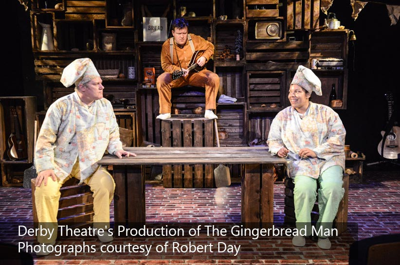 Custom Printed Floor by Le Mark for the Derby Theatre's Production of The Gingerbread Man