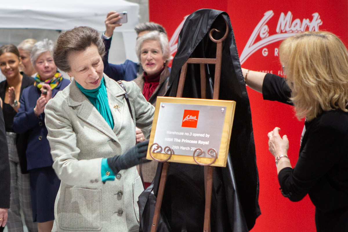 Hrh The Princess Royal Opens Le Mark S International
