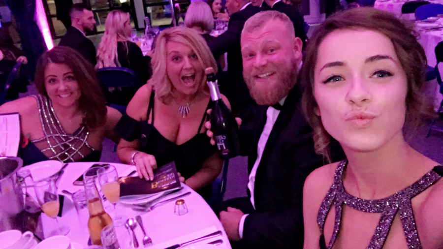 #Selfie (From left to right) Hannah, Leanne, Andrew & Shauna