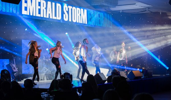 Emerald Storm wowed the guests with their Tap performance on Le Mark's Dance Floor.