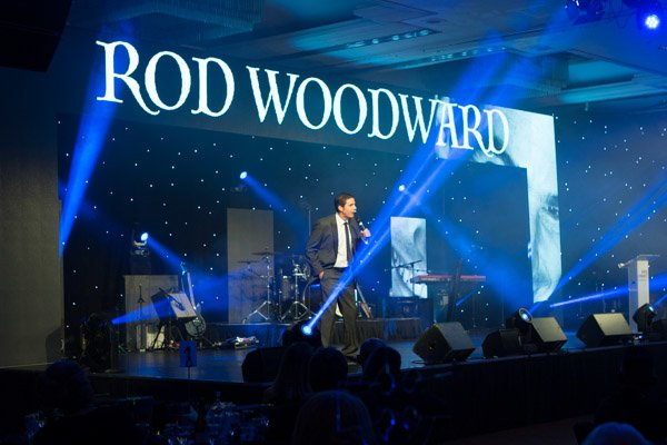 Le Mark's dance floor gave a smooth black stage from where Hilarious comedian Rod Woodward to entertain the guests