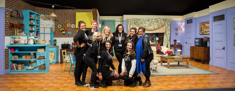 Hannah poses with the team at Friends Fest - Thank you so much for your help on the day!