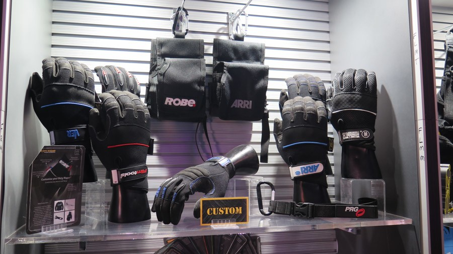 A selection of custom branded Dirty Rigger gloves and accessories
