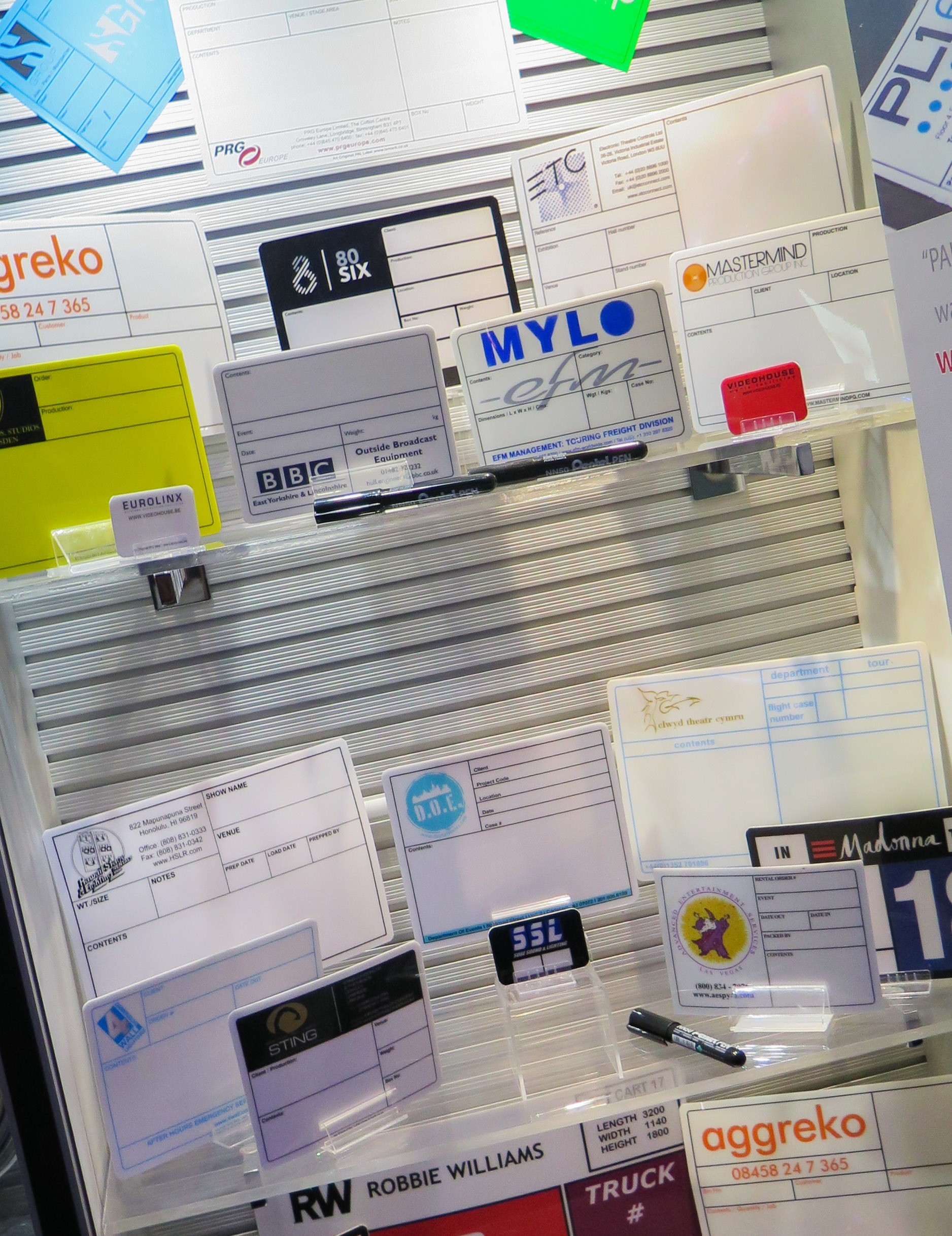 On show at LDI, just some of the big brands that have used our case labels