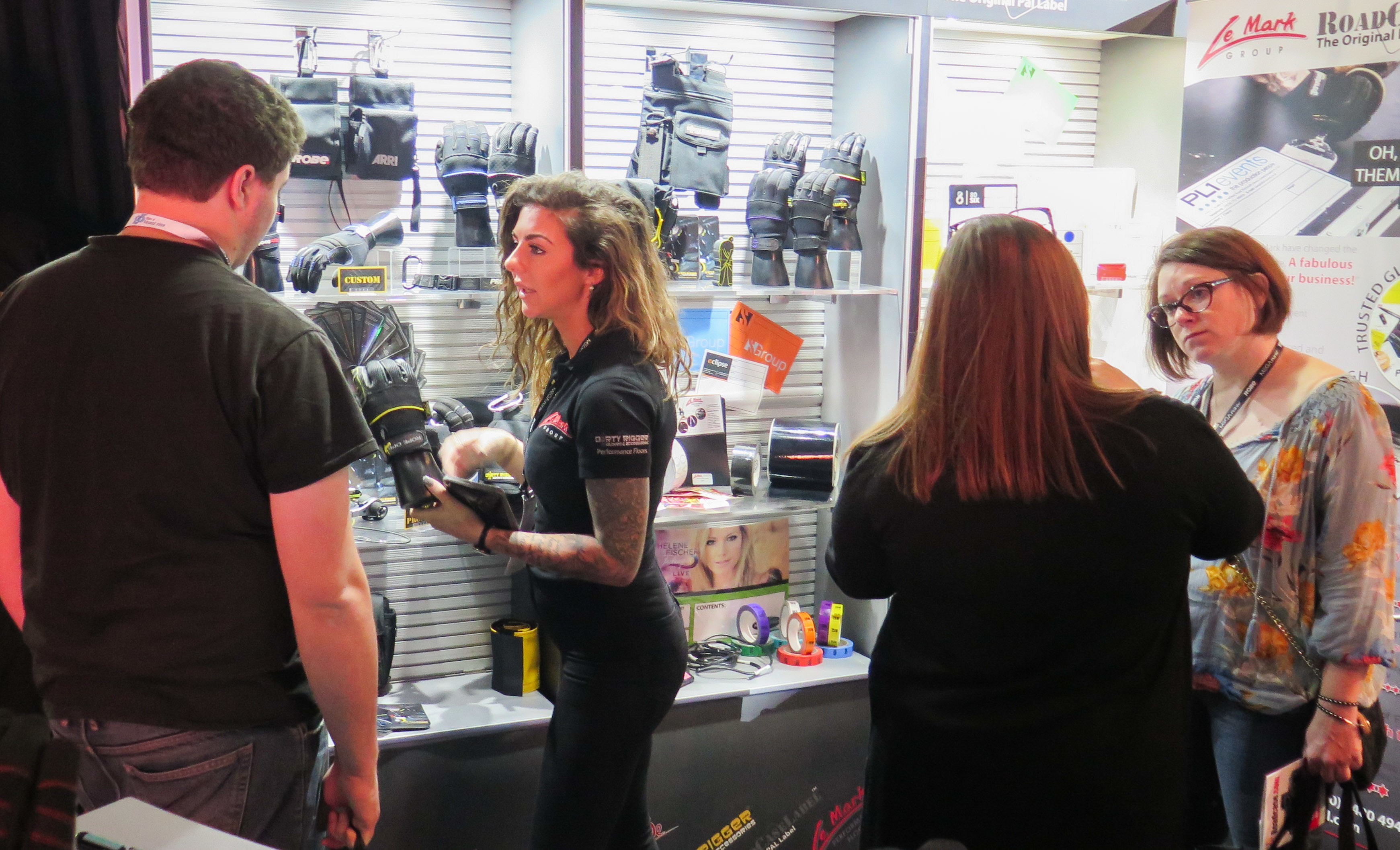 Jess was on hand to demo the Dirty Rigger Gloves & Accessories