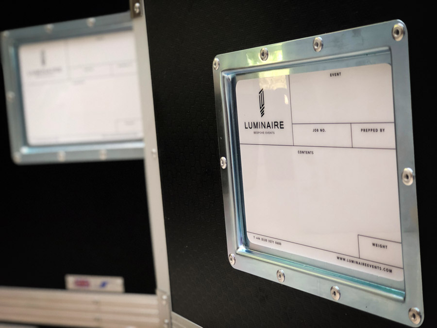 Le Mark Case Labels at Luminaire Events