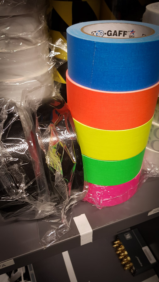 Pro Tapes' ProGaff Fluorescent cloth tape at AvensysLive