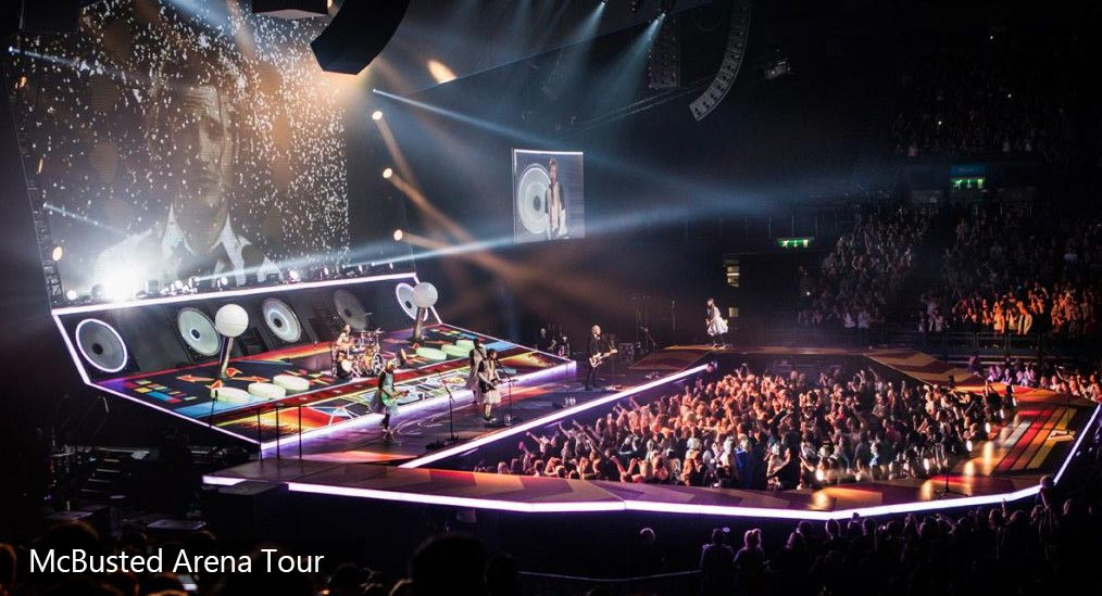 Custom Printed Floor by Le Mark for McBusted Tour