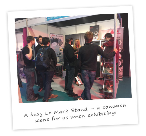 As busy stand as always at PLASA Leeds
