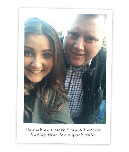 Le Mark's Hannah with Matt from All Access