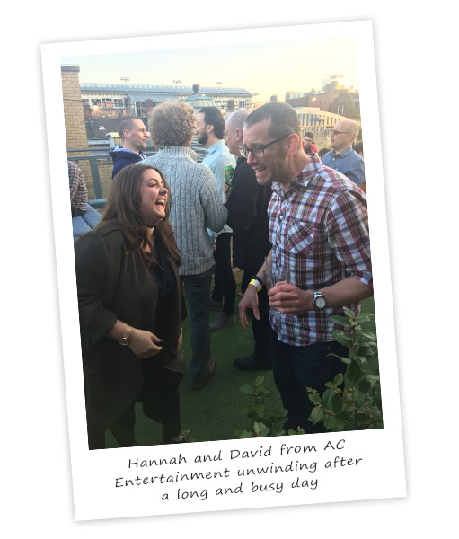 Hannah & David at PLASA Leeds