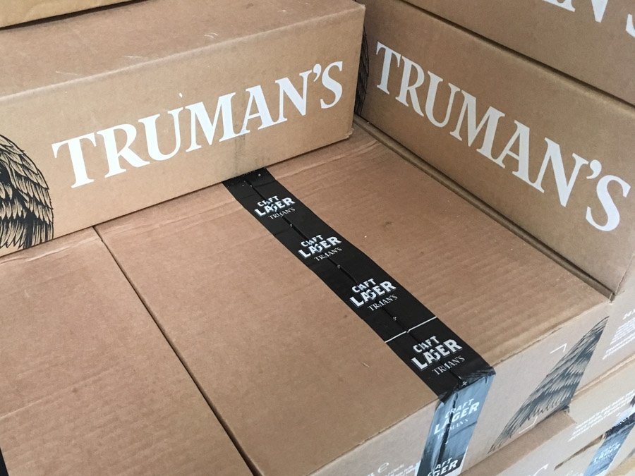 Printed Tape for Truman's Brewery