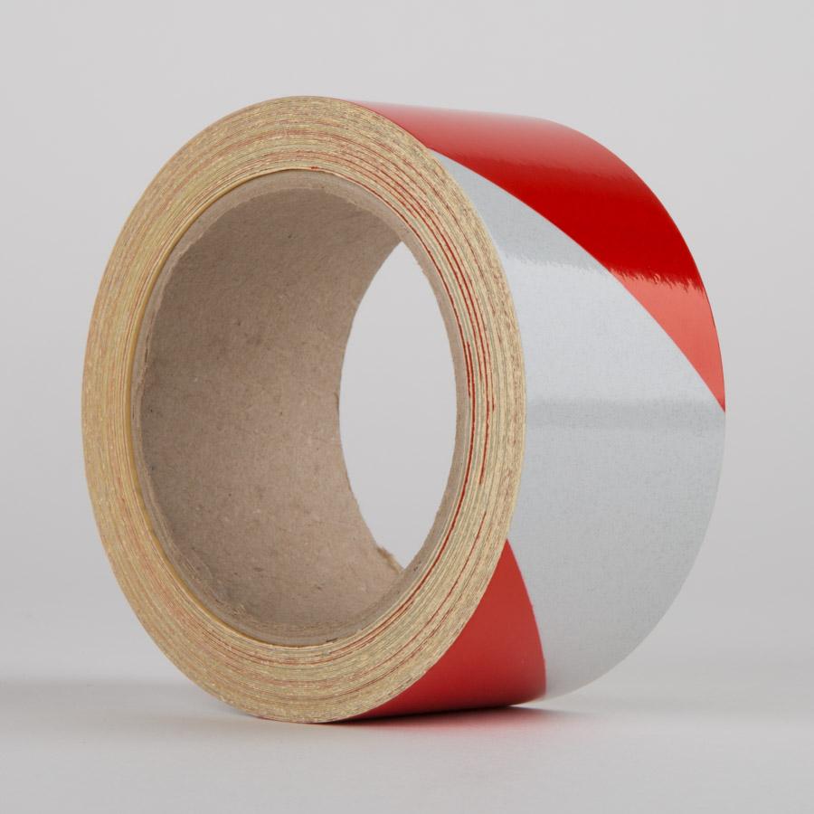 RED/WHITE Reflective Hazard Tape