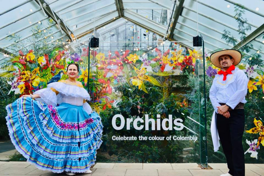 Colombian Dancers at Kew Gardens Orchid Festival