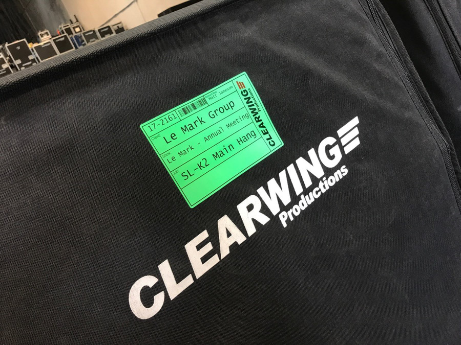 Le Mark's Custom Printed Tour Labels at Clearwing Productions