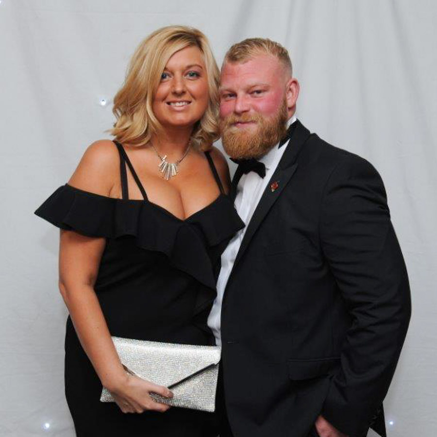 Leanne with her partner Andrew.